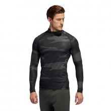 Men's Alphaskin Camo Moc Neck Long Sleeve by Adidas