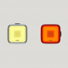 Blinder Square Twin Pack  Front & Rear Lights by Knog