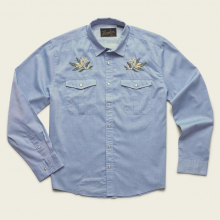 Men's Gaucho Snapshirt - Pale Blue Oxford