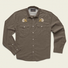 Men's Gaucho Snapshirt - Brown Oxford