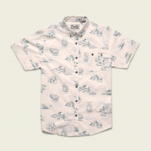 Men's Mansfield Shirt - Gulf Destinations Print by Howler Brothers in Blacksburg VA