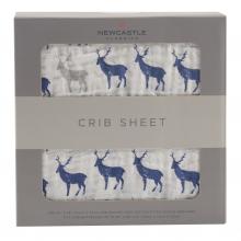 Blue Deer Crib Sheet by Newcastle Classics in Dublin Ca