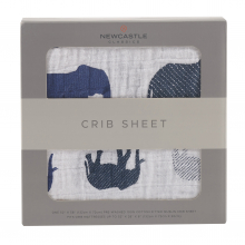 Blue Elephant Crib Sheet by Newcastle Classics in Dublin Ca