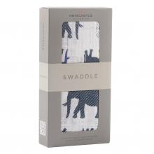 Blue Elephant Swaddle