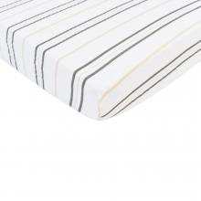 Grey Stripe Crib Sheet by Newcastle Classics
