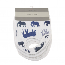 In the Wild Elephant Snap Bibs Set of 3 by Newcastle Classics