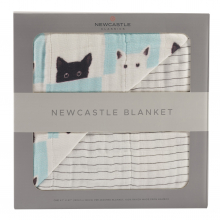 Peek-A-Boo Cats and Pencil Stripe Newcastle Blanket by Newcastle Classics