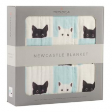 Peek-A-Boo Cats and White Newcastle Blanket by Newcastle Classics