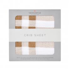 Plaid Crib Sheet