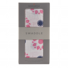 Primrose Indigo Swaddle by Newcastle Classics in Dublin Ca