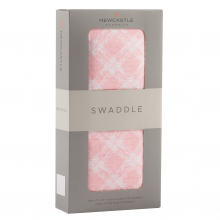 Primrose Pink Plaid Swaddle by Newcastle Classics
