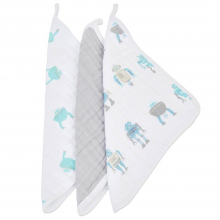 Robot Washcloth Set of 3 by Newcastle Classics