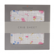 Spring Time Flower Crib Sheet by Newcastle Classics in Roseville Ca