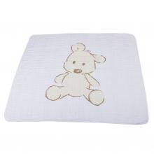 Teddy Bear and Grey Stripe Newcastle Blanket by Newcastle Classics in Dublin Ca