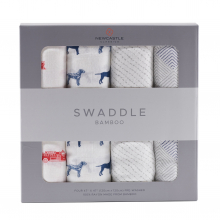Fire Truck and Dalmatian Swaddle Four Pack by Newcastle Classics