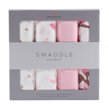 Flower Swaddle Four Pack by Newcastle Classics