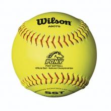 Pony League Softballs by Wilson