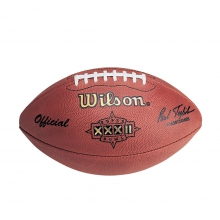 NFL Super Bowl XXXII Leather Game Football (Pro Pattern) by Wilson