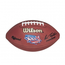 NFL Super Bowl XXXVI Leather Game Football - Official (Pro Pattern) by Wilson