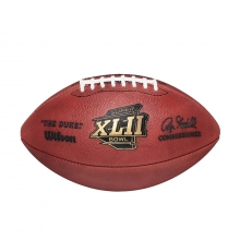 NFL Super Bowl XLII Leather Game Football - Official (Pro Pattern) by Wilson