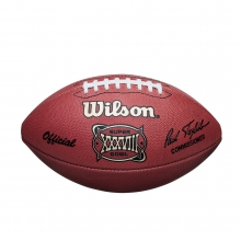 NFL Super Bowl XXXVIII Leather Game Football - Official (Pro Pattern) by Wilson