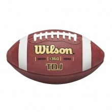 TDJ Leather Football - Junior by Wilson