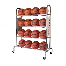 Deluxe Basketball Ball Rack by Wilson