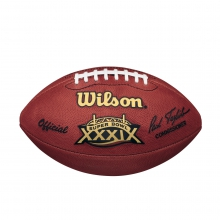 NFL Super Bowl XXXIX Leather Game Football - Official (Pro Pattern) by Wilson