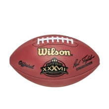 NFL Super Bowl XXXVII Leather Game Football (Pro Pattern) by Wilson