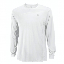 RUSH COLORBLOCK LONG SLEEVE CREW - WHITE, MEN'S S by Wilson