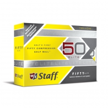 Wilson Staff Fifty Elite Golf Balls - Yellow by Wilson