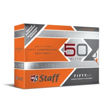 Wilson Staff Fifty Elite Golf Balls - Orange by Wilson
