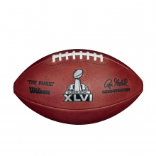 NFL Super Bowl XLVI Leather Game Football - Official (Pro Pattern) by Wilson