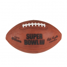 NFL Super Bowl III Leather Game Football (Pro Pattern) by Wilson