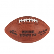 NFL Super Bowl IV Leather Game Football - Official (Pro Pattern) by Wilson