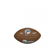 NFL Team Logo Mini Size Football - Miami Dolphins by Wilson
