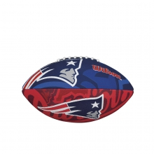 NFL Team Logo Junior Size Football - New England Patriots by Wilson