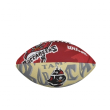NFL Team Logo Junior Size Football - Tampa Bay Buccaneers by Wilson