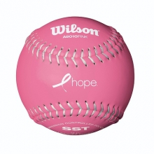 Collegiate Polycore Pink Softballs by Wilson