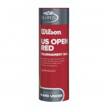 US Open Red Tournament Transition Tennis Balls by Wilson