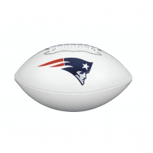 NFL Team Logo Autograph Football - Official, New England Patriots by Wilson
