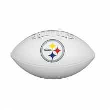 NFL Team Logo Autograph Football - Official, Pittsburgh Steelers by Wilson
