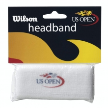US Open White Headband by Wilson