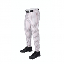 Deluxe Team Poly Warp Knit Pant with Pinstripe - Adult