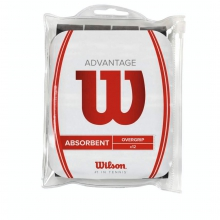 Advantage Overgrip Black - 12 Pack by Wilson