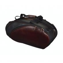 Leather Black & Brown 6 Pack Tennis Bag by Wilson