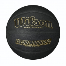 "Evolution Black with Gold Game Basketball (29.5"") by Wilson"