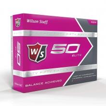 Wilson Staff Fifty Elite Golf Balls - Pink by Wilson