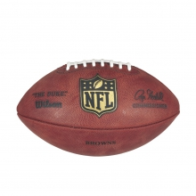 """""""The Duke"""" Laser Engraved NFL Football - Cleveland Browns by Wilson"""