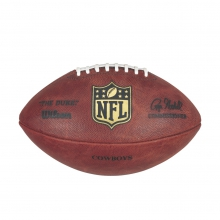 """""""The Duke"""" Laser Engraved NFL Football - Dallas Cowboys by Wilson"""